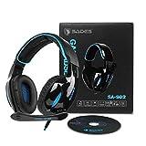 SADES SA902 cuffie Gaming Headset Auricolare per gioco USB 7.1 Audio surround stereo surround su cuffie per giochi auricolari Luce...