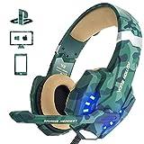 EasySMX Cuffie Gaming, Cool 2000 Cuffie da Gioco con Microfono e Bass Stereo, Cancellazione del Rumore, Controllo del Volume,...