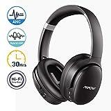 Mpow H10 Cuffie Noise Cancelling Attiva(ANC), Autonomia 30 Ore, Pliable Cuffie Over-Ear Con Hi-Fi Bassi Profondi, Microfono...