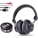 Avantree HT3189, Cuffie wireless per TV e PC Gaming con trasmettitore Bluetooth (3,5 mm AUX, RCA, USB Digital Audio, NO Optical,...