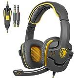 Sades SA708 3,5 millimetri audio surround Stereo PC Gaming Headset fascia cuffie con il microfono di controllo Over-the-Ear Volume...