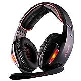SADES R7 Gaming Headset, USB Headset Cuffie da gioco stereo per auricolari Over-Ear Supporta il suono surround virtuale a 7.1...