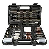 LINGSFIRE Kit per Pulizia Armi Universale, 85pcs Kit di Accessori per la Pulizia di Pistole e Fucili con Custodia per Prodotti per...