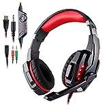 Cuffie da Gioco per PS4 New Xbox One, AFUNTA Cuffie Gaming Headset Auricolare con Microfono Stereo Bass Luce LED Regolatore di...