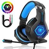 Beexcellent Cuffie Gaming per PS4 Xbox One, Multi-Platform Riduzione del Rumore Cuffie con Microfono Confortevole Stereo Bassi...