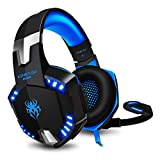 Cuffie Gaming PS4 KINGTOP KG2000 Cuffie Da Gaming Con Microfono LED Luce Regolatore di Volume Per PlayStation 4 PC Xbox One S...