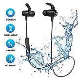 Cuffie Bluetooth 5.0 Bassi Potenziati e Stereo Hi-Fi, Mpow S10 IPX8 Impermeabili, Cuffie Wireless Sport con 14 Ore di Gioco,...