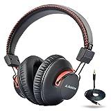 Avantree Cuffie Over Ear Bluetooth 4.0 autonomia di 40 ore/con microfono e con funzionamento anche con filo, tecnologia aptX HiFi,...