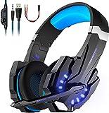 Cuffie da Gioco G9000 (Nuovo Modello) Gaming Luce Led e Microfono e Regolatore Volume Insonorizzato Compatibile con PC,...