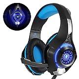 Beexcellent GM-1, Cuffie Gaming con microfono Cuffie da Gioco Bass Stereo per PS4 Auricolari Xbox One con LED Cancellazione del...