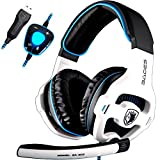 Sades SA903 Gaming Headset 7.1 Cuffie Gaming USB Surround Sound Stereo PRO Cuffie per pc Auricolari con Microfono Bass Deep Bass...